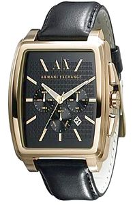 Armani Men's Watch - Armani Exchange Watch With Black Leather Strap